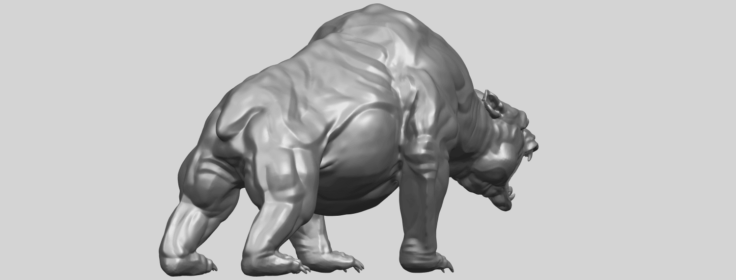 15_TDA0744_Bear_02A05.png Download free STL file  Bear 02 • 3D print model, GeorgesNikkei