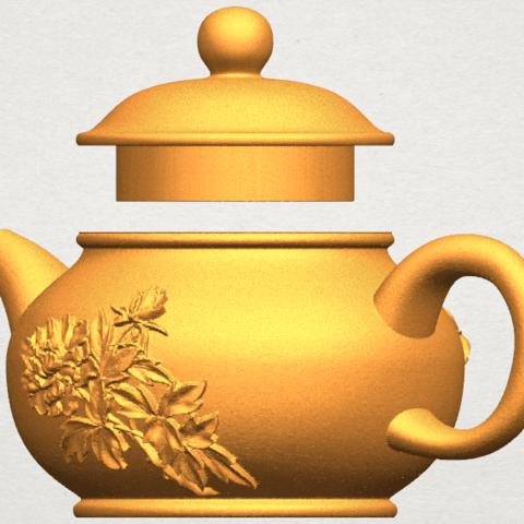 TDA0324 Tea Pot (iii)- Body and Cap A02.png Download free STL file Tea Pot 03 • 3D printing template, GeorgesNikkei