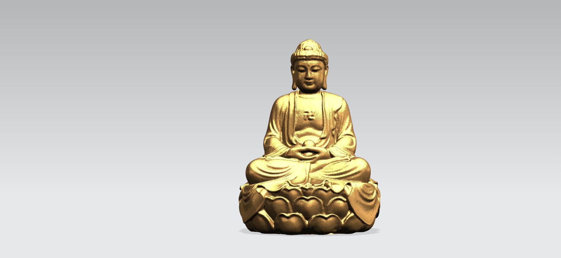 Gautama Buddha -B01.png Télécharger fichier STL gratuit Gautama Bouddha 01 • Plan pour impression 3D, GeorgesNikkei