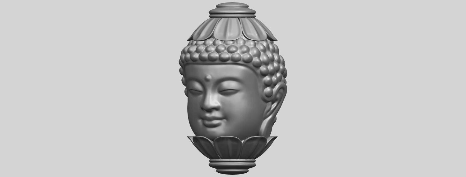 11_Buddha_Head_Sculpture_80mmA02.png Download free STL file Buddha - Head Sculpture • 3D printing model, GeorgesNikkei