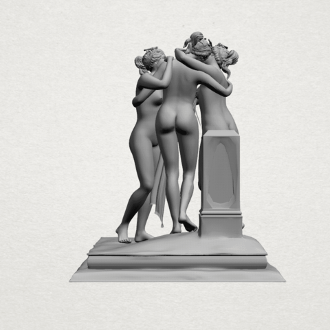 Sculpture of Three Grace (i)-A03.png Download free STL file Sculpture of Three Grace 01 • 3D printer template, GeorgesNikkei