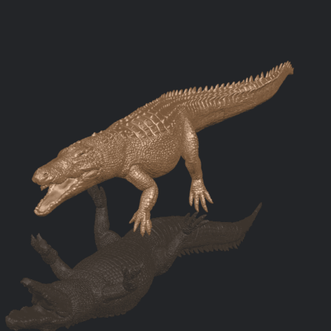 B02.png Download free STL file Alligator 01 • 3D printer object, GeorgesNikkei
