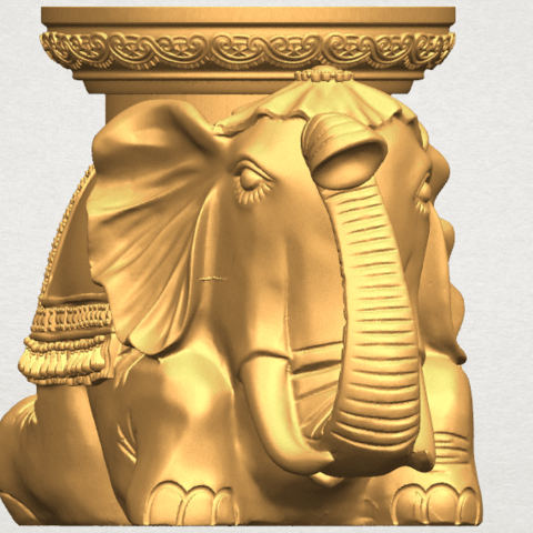 TDA0501 Elephant Table A06.png Download free STL file Elephant Table • 3D printing object, GeorgesNikkei