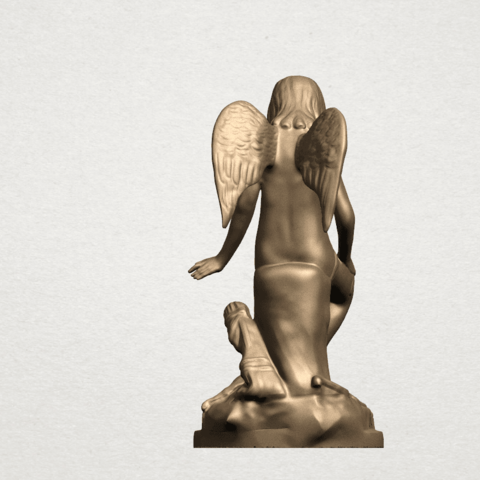 Angel and Dog A04.png Download free STL file Angel and Dog • 3D print model, GeorgesNikkei