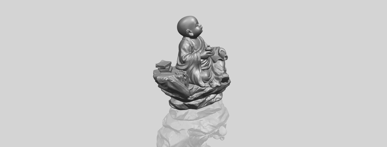 17_TDA0558_Little_Monk_Drink_TeaA00-1.png Télécharger fichier STL gratuit Boire du thé Little Monk Drink Tea • Design à imprimer en 3D, GeorgesNikkei