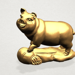 Download free 3D printing models Chinese Horoscope 12 pig, GeorgesNikkei
