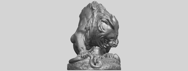 16_Lion_(iii)_with_snake_60mm-A09.png Télécharger fichier STL gratuit Lion 03 - avec serpent • Modèle imprimable en 3D, GeorgesNikkei