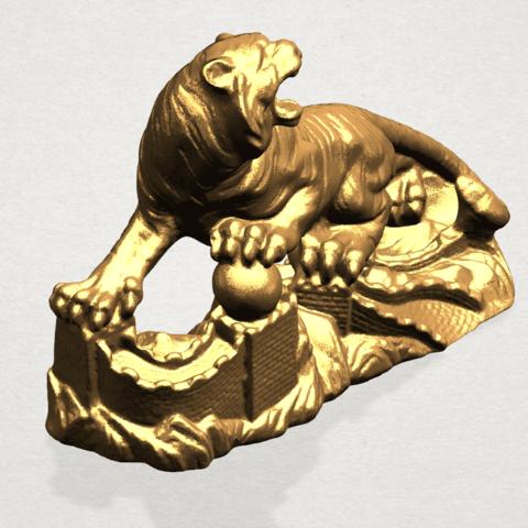 Siberian Tiger - A05.png Télécharger fichier STL gratuit Tigre de Sibérie • Objet imprimable en 3D, GeorgesNikkei