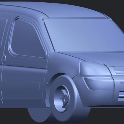 TDB002_1-50A08.png Download free STL file Citroen Berlingo Belgium Post • Design to 3D print, GeorgesNikkei