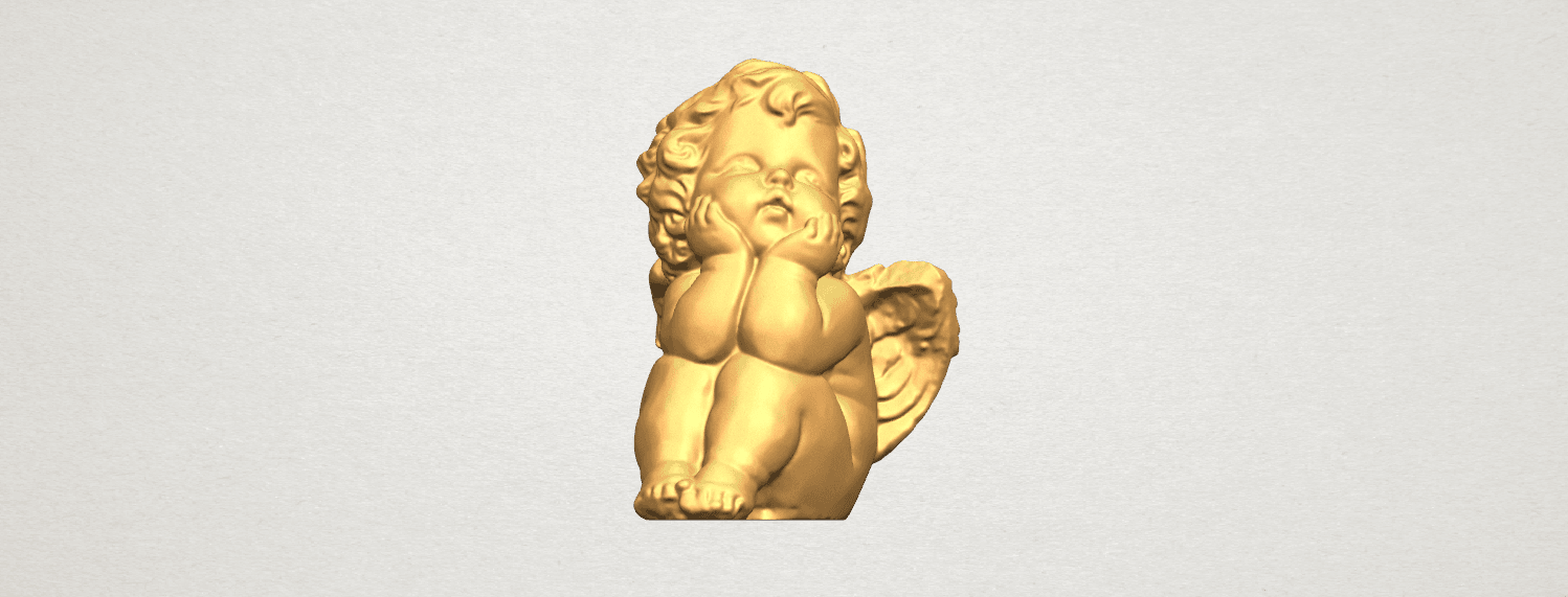 TDA0481 Angel Baby 04 B01.png Download free STL file Angel Baby 04 • 3D printable template, GeorgesNikkei