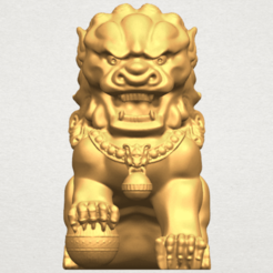 Download free STL files Chinese Lion, GeorgesNikkei