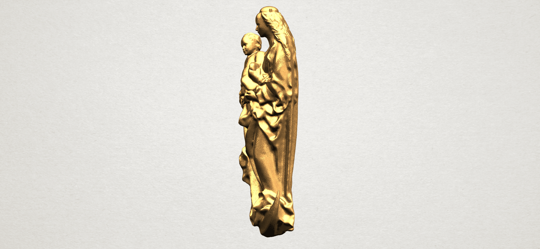 Mother and Child (vi) - A03.png Download free STL file Mother and Child 06 • 3D printing template, GeorgesNikkei