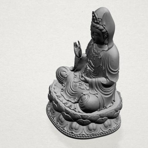 Bodhisattva Buddha - A04.png Download free STL file Avalokitesvara Bodhisattva 01 • 3D print object, GeorgesNikkei