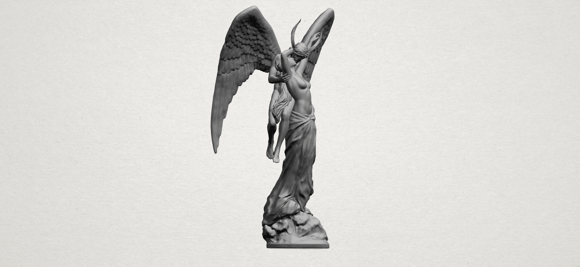 Angel and devil - A14.png Download free 3DS file Angel and devil • 3D print template, GeorgesNikkei