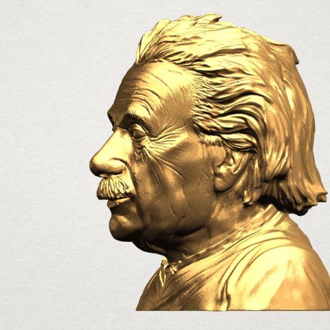 Einstein A03.png Download free STL file Einstein • 3D printer template, GeorgesNikkei