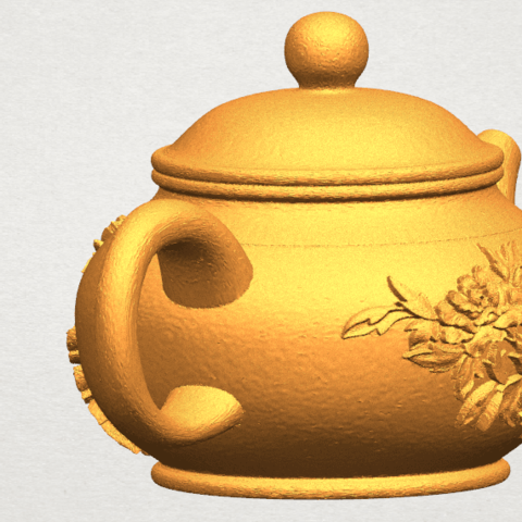 TDA0324 Tea Pot (iii)- Body and Cap A07.png Download free STL file Tea Pot 03 • 3D printing template, GeorgesNikkei