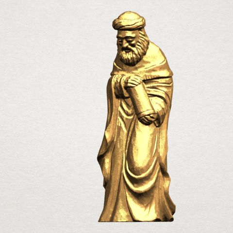 Sculpture of Arabian 88mm - A01.png Download free STL file Sculpture of Arabian • 3D print template, GeorgesNikkei