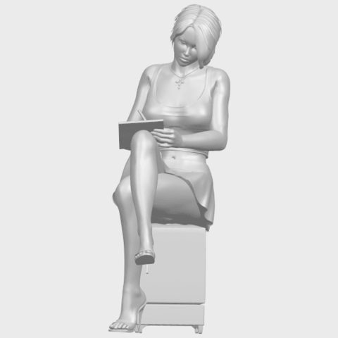 19_TDA0471_Beautiful_Girl_05_A01.png Download free STL file Beautiful Girl 05 • 3D printing template, GeorgesNikkei