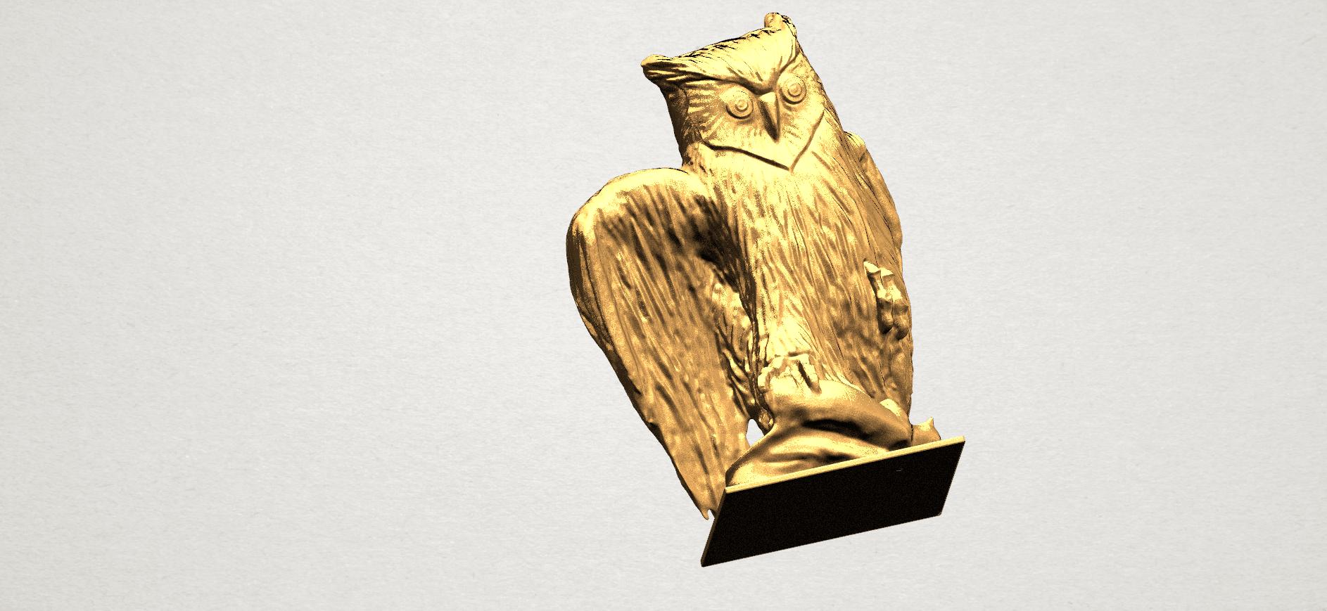 Owl (ii) A07.png Télécharger fichier STL gratuit Hibou 02 • Plan pour imprimante 3D, GeorgesNikkei