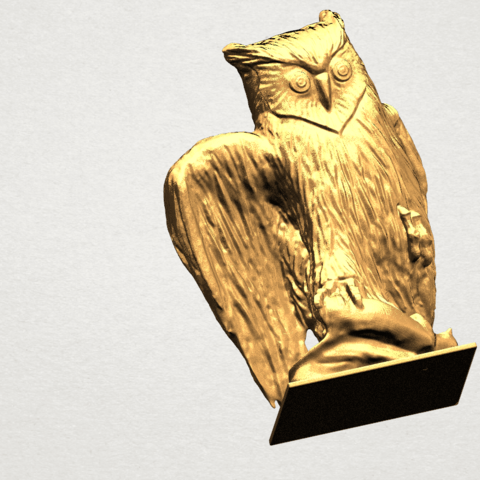 Owl (ii) A07.png Download free STL file Owl 02 • 3D printer object, GeorgesNikkei