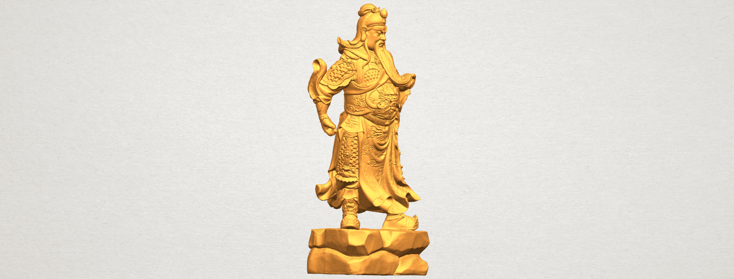 TDA0330 Guan Gong (iii) A06.png Download free STL file Guan Gong 03 • 3D printable template, GeorgesNikkei