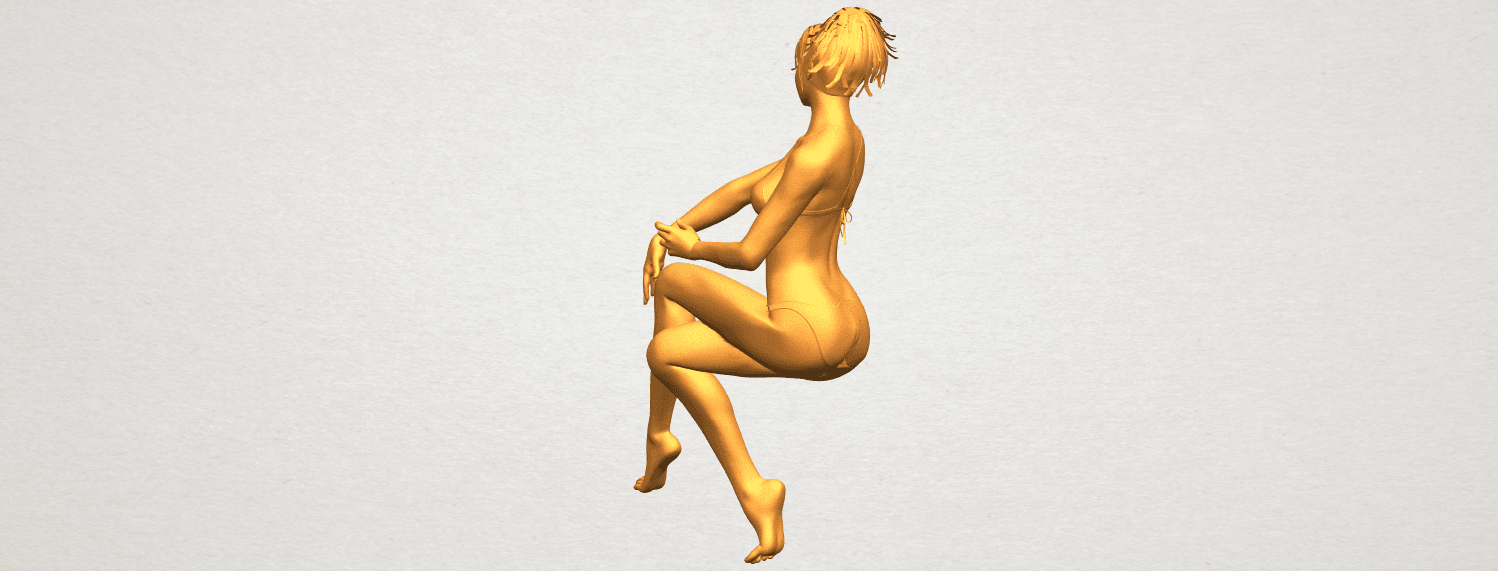 A08.png Download free STL file Naked Girl H02 • 3D print object, GeorgesNikkei