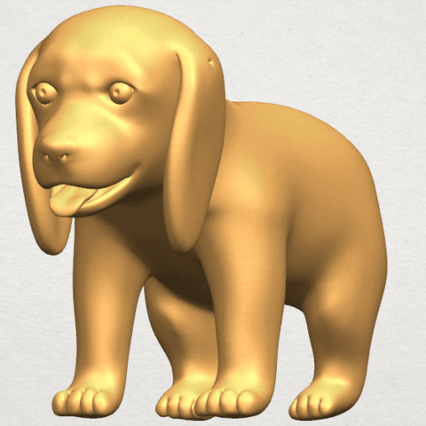 TDA0533 Puppy 01 A04.png Download free STL file Puppy 01 • 3D printer template, GeorgesNikkei