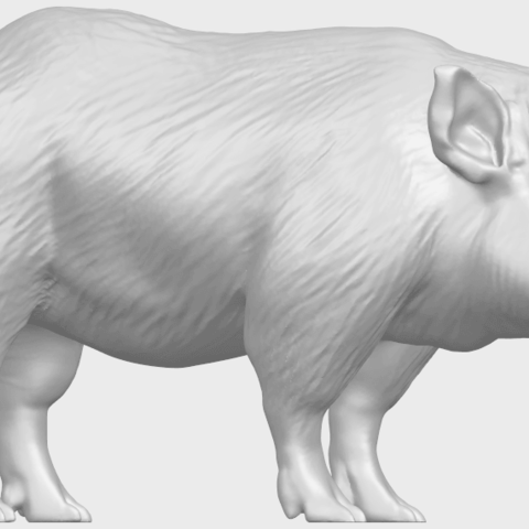 13_TDA0320_Pig_ii_A07.png Download free STL file Pig 02 • 3D printable object, GeorgesNikkei