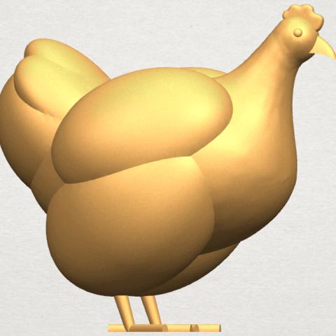 TDA0484 Hen A06.png Télécharger fichier STL gratuit Poule • Design pour imprimante 3D, GeorgesNikkei