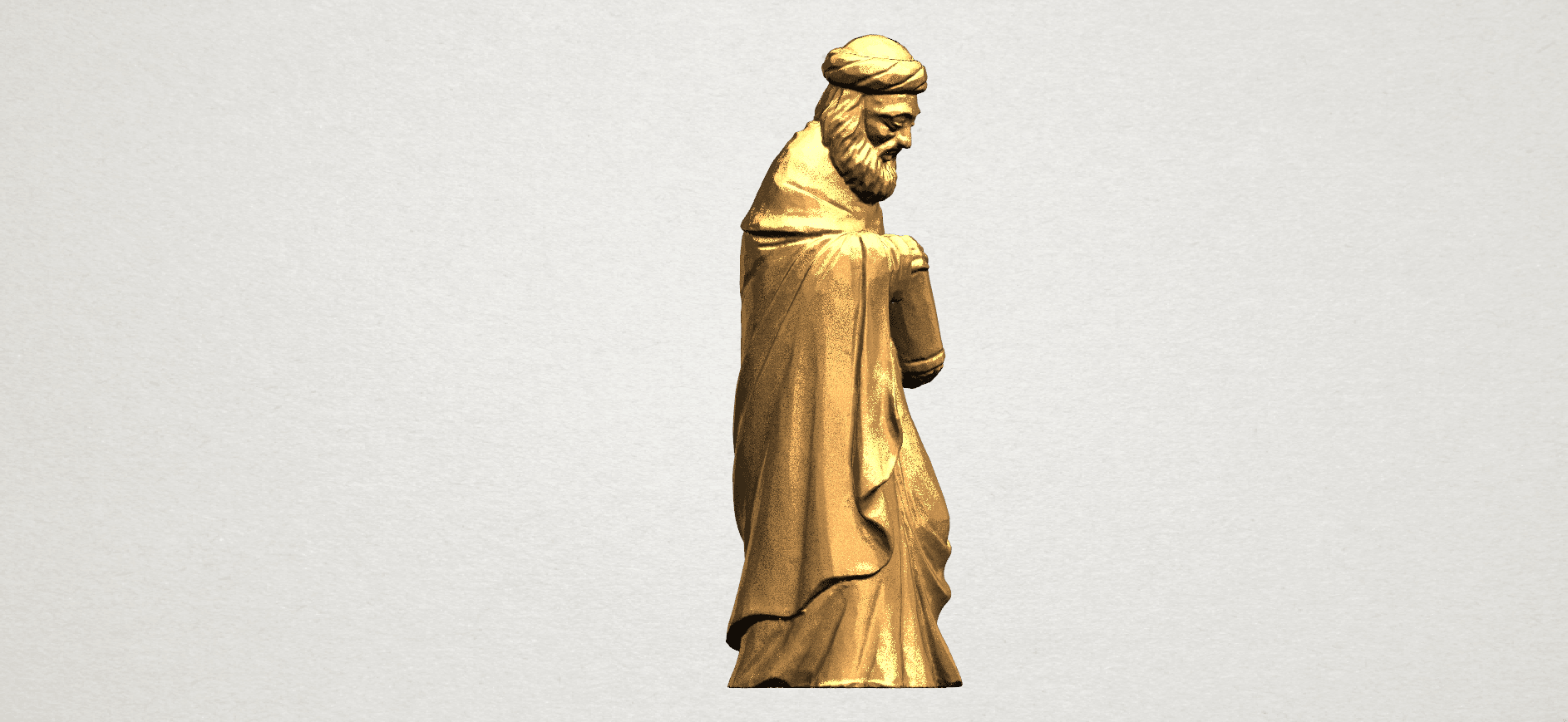 Sculpture of Arabian 88mm - A06.png Download free STL file Sculpture of Arabian • 3D print template, GeorgesNikkei