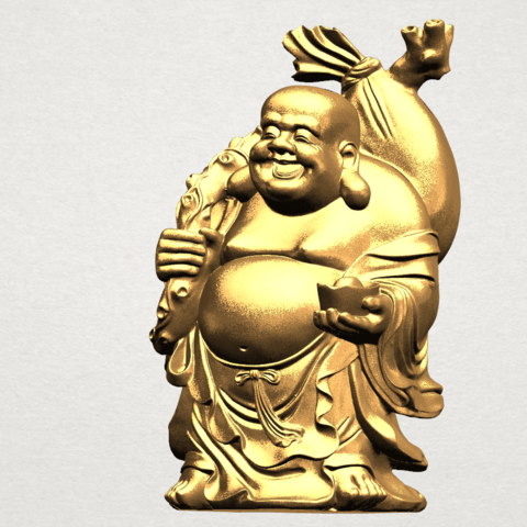 Metteyya Buddha 05 - 88mm - A02.png Télécharger fichier STL gratuit Bouddha Metteyya 05 • Objet imprimable en 3D, GeorgesNikkei