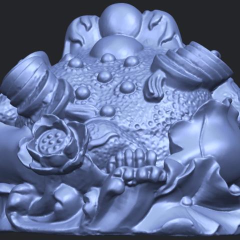 21_TDA0336_The_Golden_ToadB04.png Download free STL file The Golden Toad • 3D printer design, GeorgesNikkei