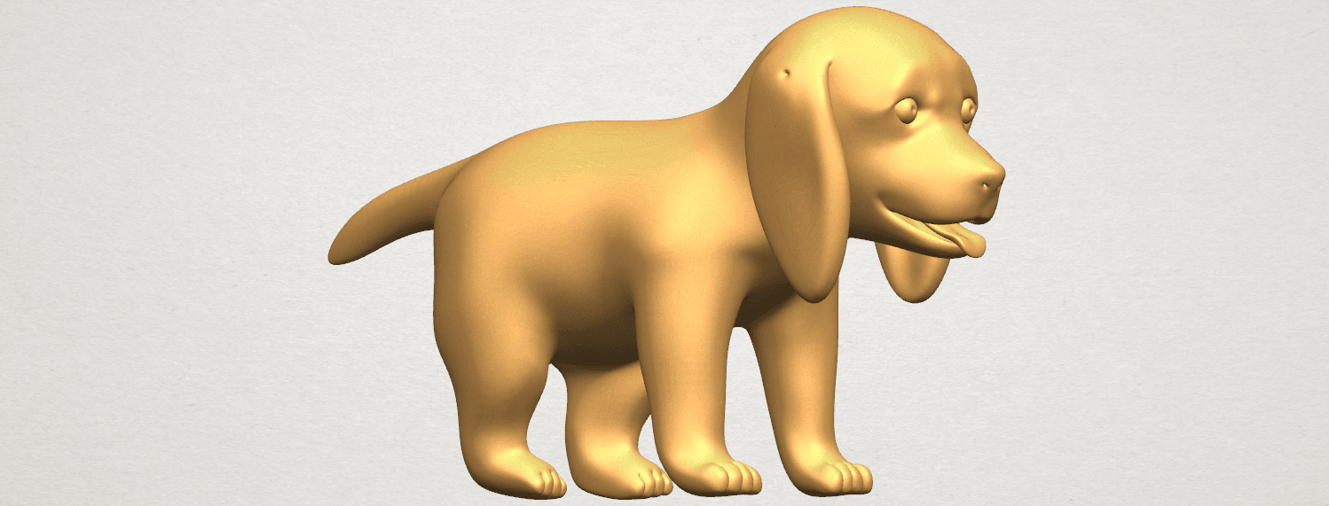 TDA0533 Puppy 01 A02.png Download free STL file Puppy 01 • 3D printer template, GeorgesNikkei