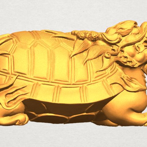 TDA0333 Dragon  Tortoise A04.png Télécharger fichier STL gratuit Tortue dragon • Objet imprimable en 3D, GeorgesNikkei