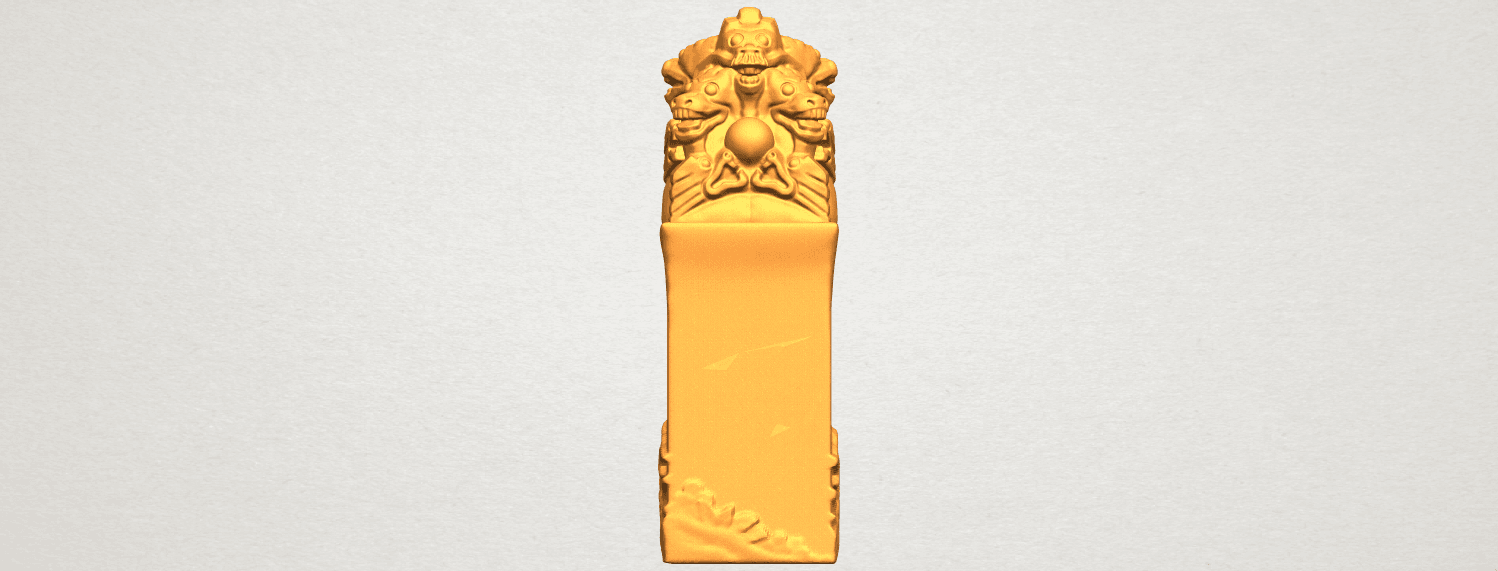 A01.png Download free STL file Dragon Stamp 02 • 3D printing model, GeorgesNikkei