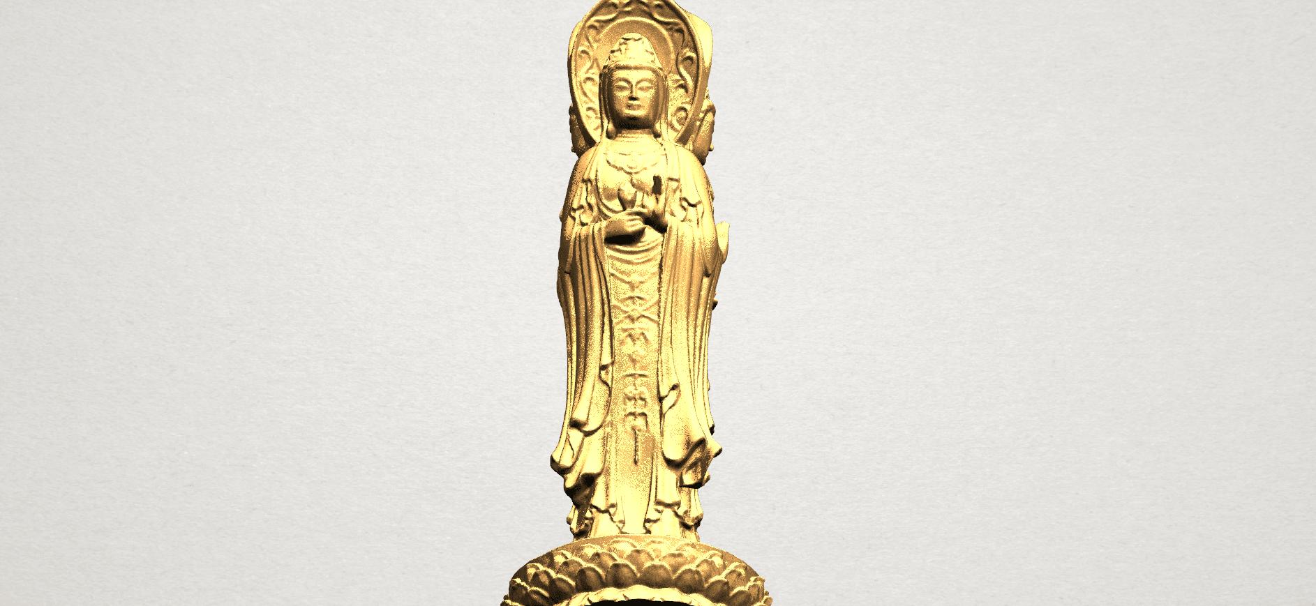 Avalokitesvara Buddha (with Lotus Leave) (i) A10.png Download free STL file Avalokitesvara Buddha (with Lotus Leave) 01 • 3D printable model, GeorgesNikkei