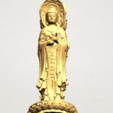 Download free 3D printing designs Avalokitesvara Buddha (with Lotus Leave) 01, GeorgesNikkei