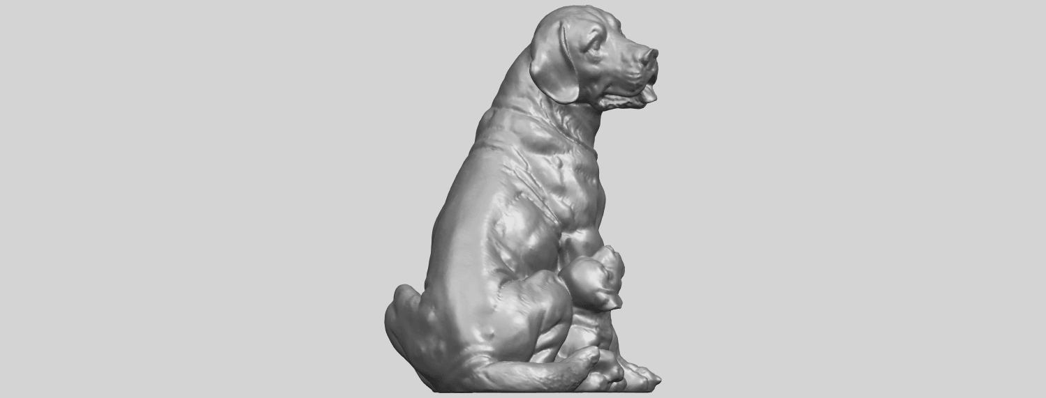 02_TDA0526_Dog_and_PuppyA01.png Download free STL file Dog and Puppy 01 • Model to 3D print, GeorgesNikkei