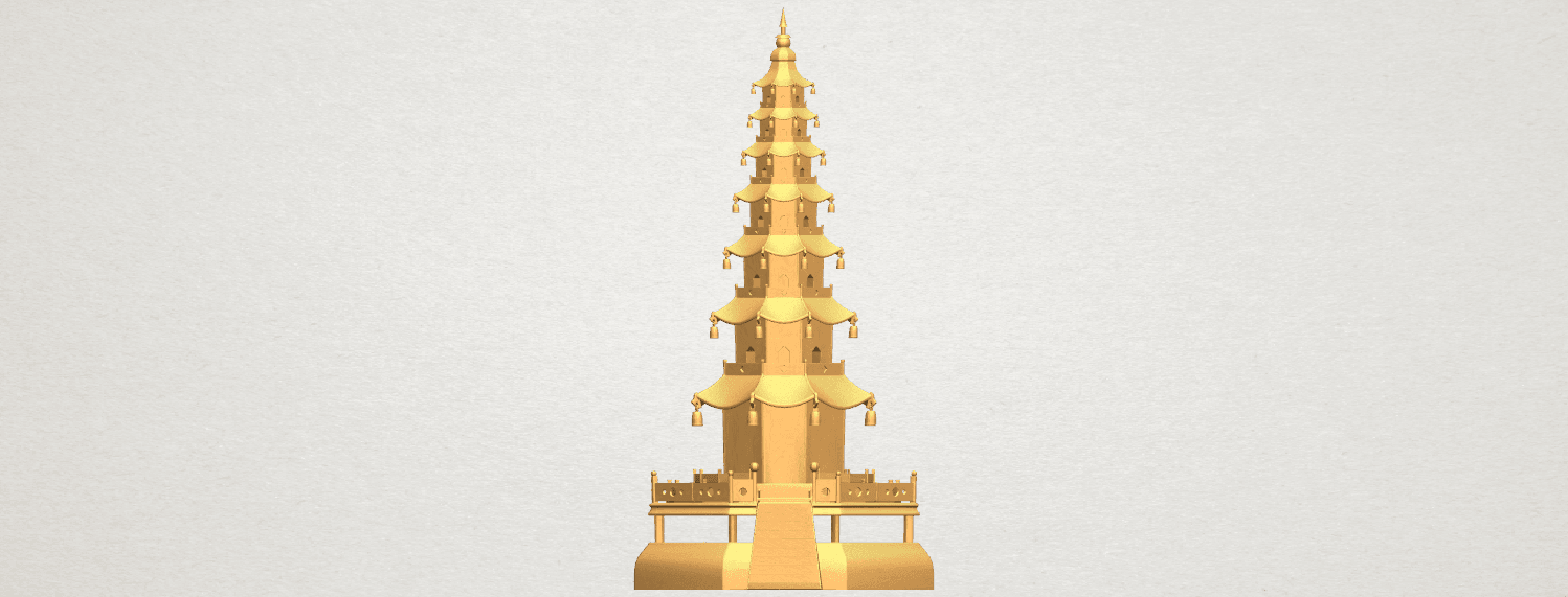 TDA0623 Chiness pagoda A01 ex700.png Download free STL file Chiness pagoda • Design to 3D print, GeorgesNikkei