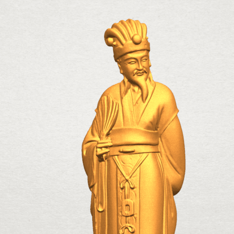 TDA0342 Zhu Ge Liang Kong Ming A07.png Télécharger fichier STL gratuit Zhu Ge Liang Kong Ming Kong Ming • Modèle imprimable en 3D, GeorgesNikkei