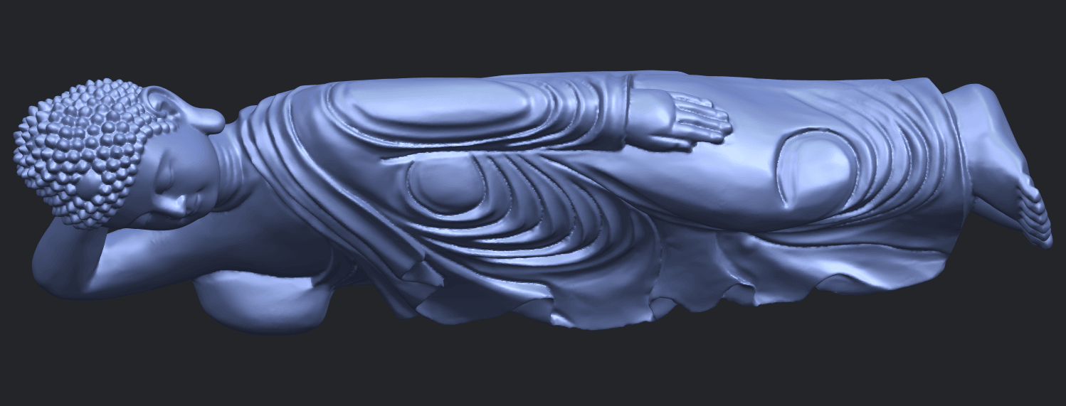 16_TDA0180_Sleeping_Buddha_(ii)_88mmB01.png Download free STL file Sleeping Buddha 02 • Design to 3D print, GeorgesNikkei