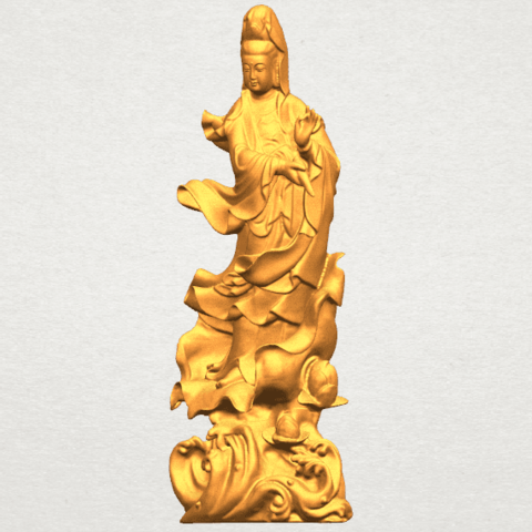 TDA0298 Avalokitesvara Bodhisattva - Standing (vi) A02.png Télécharger fichier STL gratuit Avalokitesvara Bodhisattva - Debout 06 • Objet pour impression 3D, GeorgesNikkei
