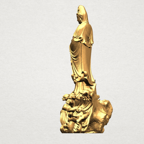 Avalokitesvara Buddha - Standing (ii) A04.png Download free STL file Avalokitesvara Bodhisattva - Standing 02 • Design to 3D print, GeorgesNikkei