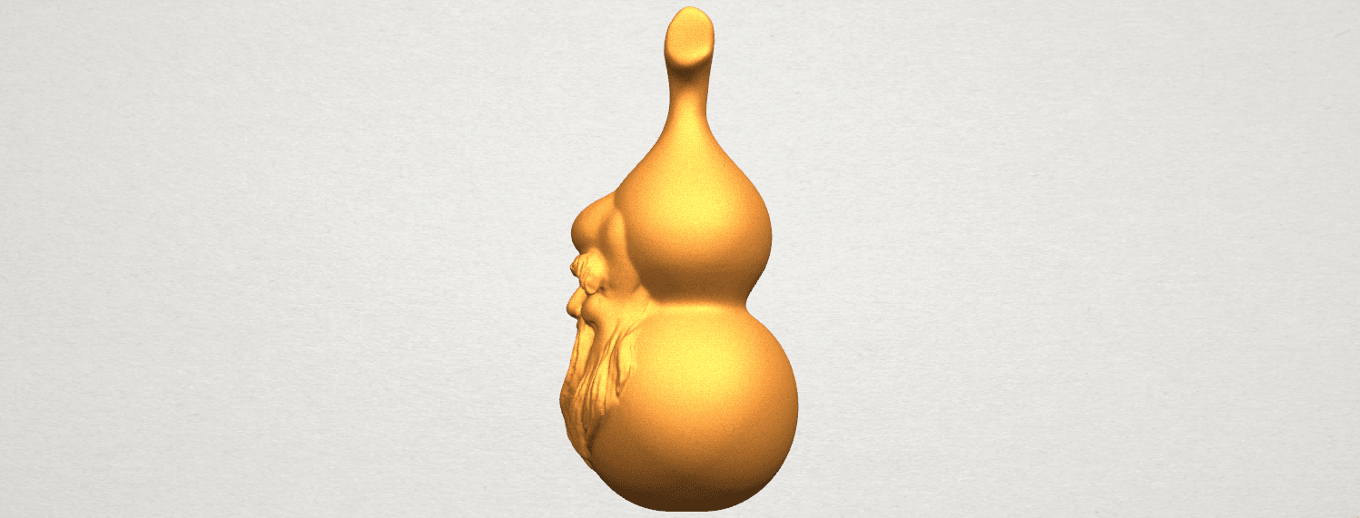 TDA0335 Bottle Gourd 01  A03.png Download free STL file Bottle Gourd 01 • 3D printing template, GeorgesNikkei