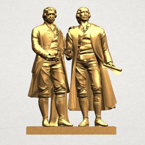 Goethe schiller 80mm - A01.png Télécharger fichier STL gratuit Goethe Schiller • Modèle imprimable en 3D, GeorgesNikkei
