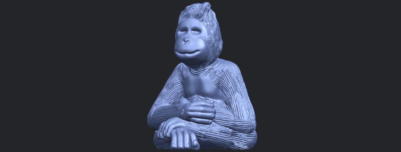 09_TDA0606_ChimpanzeeB02.png Télécharger fichier STL gratuit Chimpanzé • Design imprimable en 3D, GeorgesNikkei