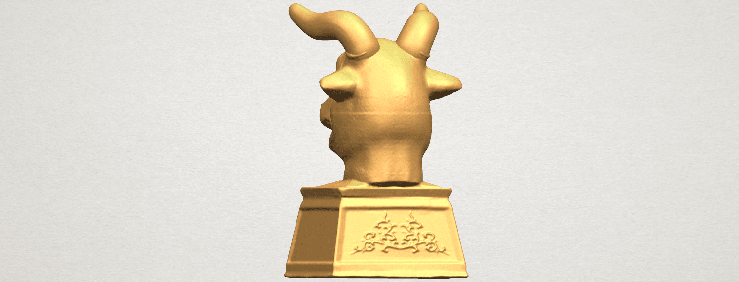 TDA0509 Chinese Horoscope of Bull 02 A04.png Download free STL file Chinese Horoscope of Bull 02 • 3D printing design, GeorgesNikkei