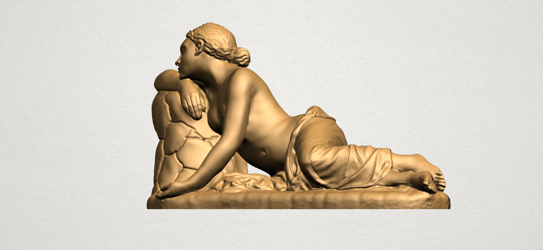 Naked Girl - Lying on Side - A02.png Download free STL file Naked Girl - Lying on Side • 3D printer template, GeorgesNikkei