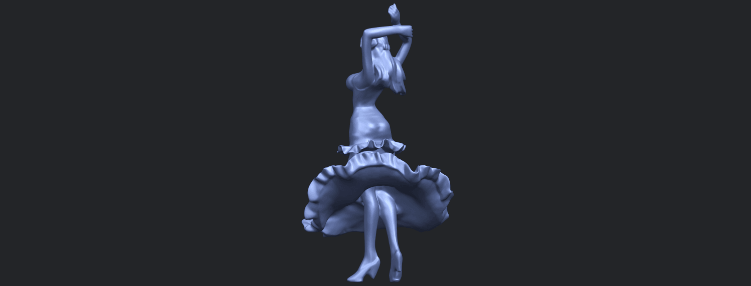 23_Girl_with_Dress_80mm-B08.png Download free STL file Girl with Dress • Object to 3D print, GeorgesNikkei