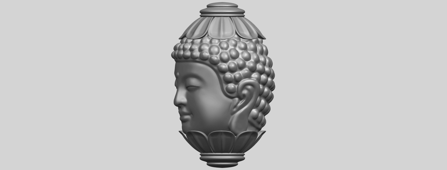 11_Buddha_Head_Sculpture_80mmA03.png Download free STL file Buddha - Head Sculpture • 3D printing model, GeorgesNikkei